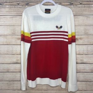 Forever 21 X Wilson Tennis Sweater Red Stripe XL